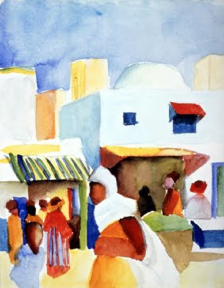 August Macke - The Tunisian Journey, 1914.