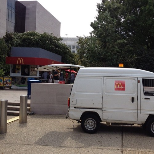 Even McDonald's is cutting costs and downsizing. #lol #funny #hilarious  (Taken with Instagram at National Air and Space Museum)