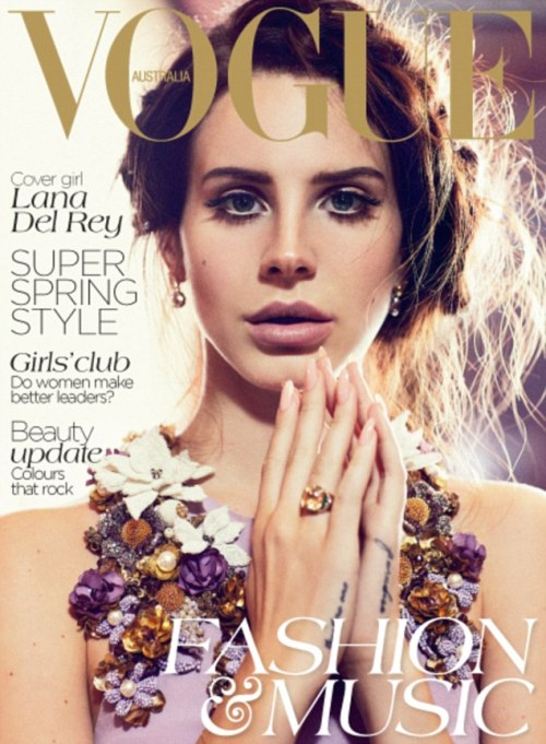 Beautiful Lana Del Rey lands the October issue cover of Australian Vogu magazine, lensed by rising star Nicole Bentley.  Original Article