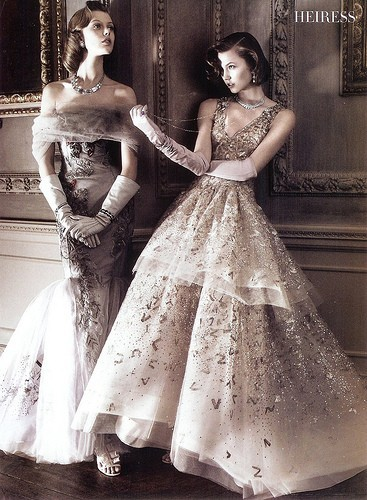 hautecouturecode:  Carolina Herrera & Oscar de la Renta, Vogue US May 2010