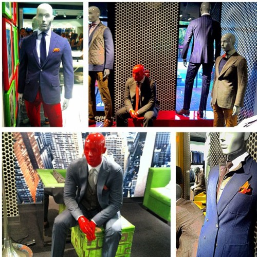 Even the mannequins… #SuitSupply #suit #dapper #meanswear #tailored #doublebreasted #DC #georgetown #mensstyle  (Taken with Instagram)
