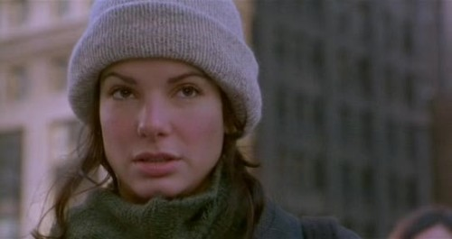 "sandra bullock, ""while you were sleeping"" i crushed on her hard after watching this movie."