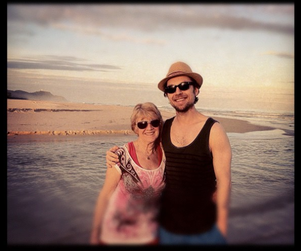 With my Mother at Byron Bay, Australia.  Christmas 2011.