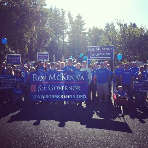 The @McKennaCampaign army assembled for the #BlackDiamond parade! (Taken with Instagram)