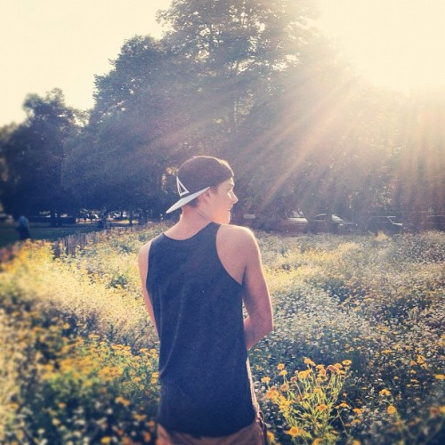 finnharries:  Jackamo walking through the flowers! @jacksgap (Taken with Instagram)