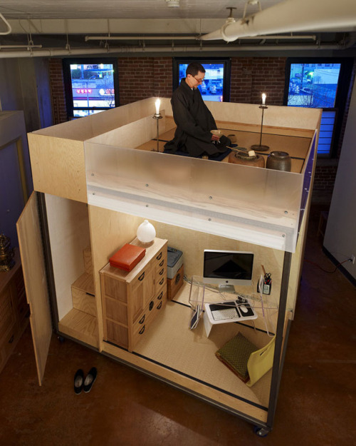laughingsquid:  Cube, A Self-Contained Live Work Loft Unit
