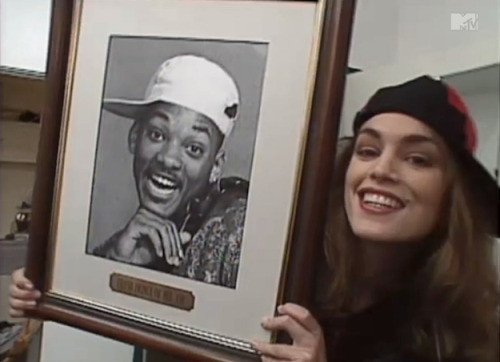 CINDY CRAWFORD & THE FRESH PRINCE.
