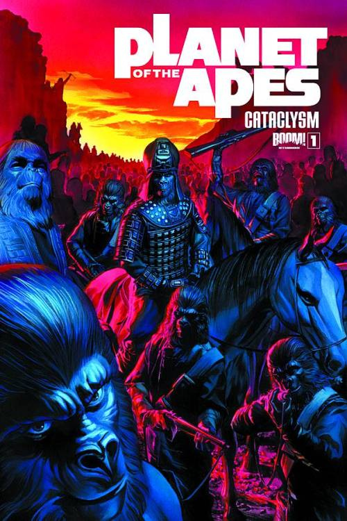 Market Monday Planet of the Apes: Cataclysm #1, co-written by Corinna Bechko  BRAND-NEW SERIES! GREAT JUMPING-ON POINT FOR NEW READERS! Acclaimed writers Corinna Bechko (HEATHENTOWN, FEAR ITSELF: THE HOME FRONT) and Gabriel Hardman (HULK, AGENTS OF ATLAS) start a new chapter of the PLANET OF THE APES saga, launching the fan-favorite franchise into its most exciting era yet! Eight years before astronaut George Taylor fell from the stars…the stars fell on the PLANET OF THE APES! Once the destroyer of human civilization, the Alpha-Omega bomb of yore has slept silent in the dark side of the moon. One mad monk seeks to wake the beast…and all of ape society is at risk. It's a race against time as Doctor Zaius struggles to find an end to the madness that has engulfed all that he knows! Don't forget to ask your retailer about the rare Alex Ross Black and White CGC 9.8 Near Mint variant!  ~Preview~