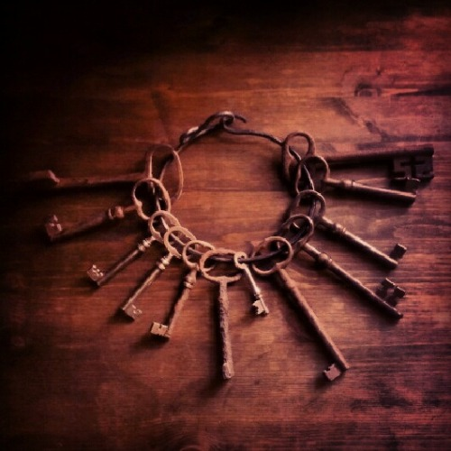 blackpoisonousrivers:  One key ring in our antique key collection.