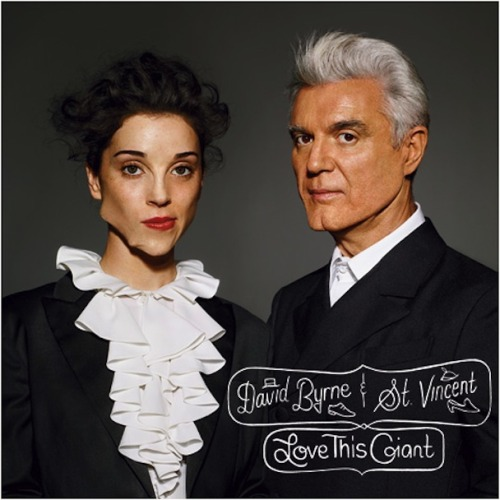 The long-awaited album Love This Giant from David Byrne (of the Talking Heads) and St. Vincent (I've mentioned her here just a couple of times) will drop in eight days on September 11 and to get ready for it's arrival, NPR posted the entire masterpiece online for eager fans to stream. Be sure to check it out and if you're into it consider pre-ordering the album through their website.