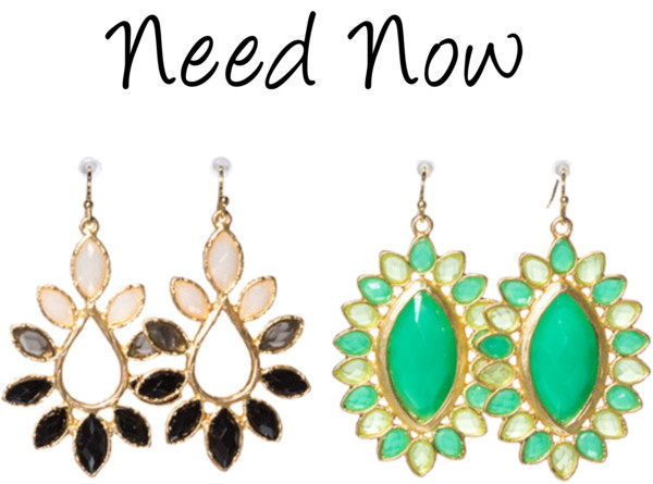 Need Now! In black, grey and nude neutrals or minted teals, get these stunning drops NOW!  NEW ARRIVALS / NEW ARRIVALS