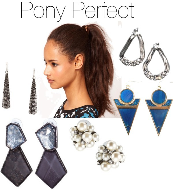 These earrings are far too striking to be tucked away behind tresses! Show off these pony perfect earrings now at shopgentry.com!  Gentry earrings / ALL JEWELRY / ALL JEWELRY / ALL JEWELRY / NEW ARRIVALS
