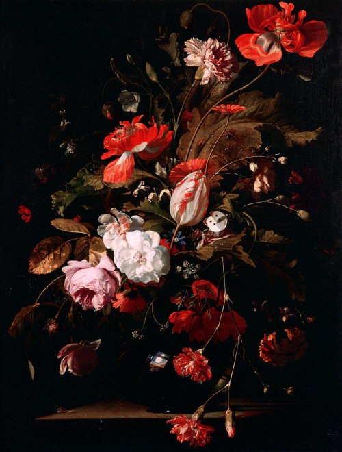 composition-improvisation:  Willem van Aelst, Still-Life with Flowers, c. 1665