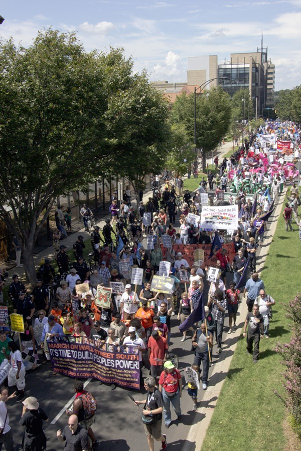 Charlotte, NC: March on Wall Street South - Protest at the Democratic National Convention, September 2, 2012. Photo by Grant Baldwin