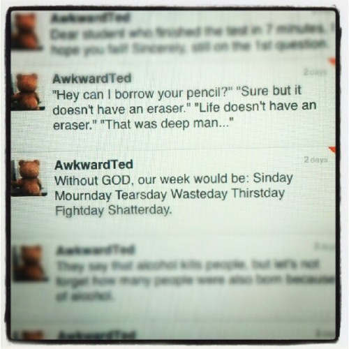 #Ted #tweets #funny #lmao #twitter LOL  (Taken with Instagram)