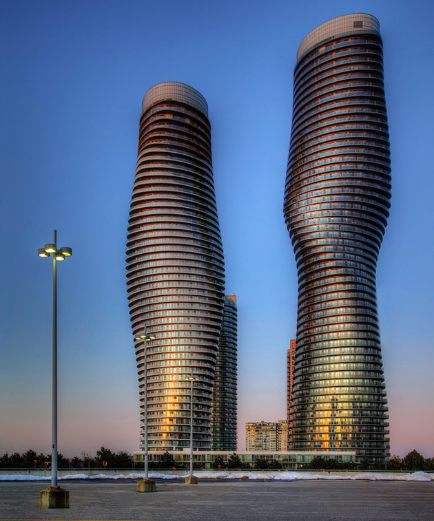 "designismymuse:  MAD architects: Absolute Towers in Mississauga, Canada (images, google) Local Toronto residents have nicknamed the tower, ""Marilyn Monroe""."