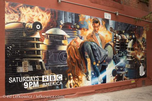 yesampersand:  Gorgeous hand-painted Doctor Who mural in Brooklyn.  Previously on Doctor Who Tumblr… this post.