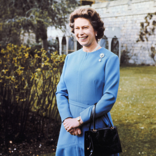 1976 - Queen Elizabeth elizabethii:  Her Majesty poses for Her 50th birthday photo, April 1976