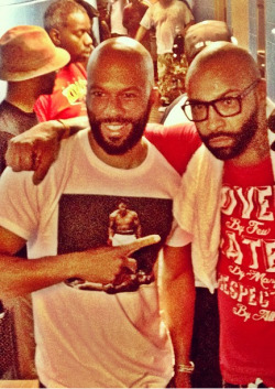 hazeleyed1:  beardedandblack:  you4eya:  Common x Joe Budden  looking like brothers  Oh my loins!