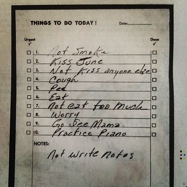 Johnny Cash's to-do list via @nytimes  (Taken with Instagram)