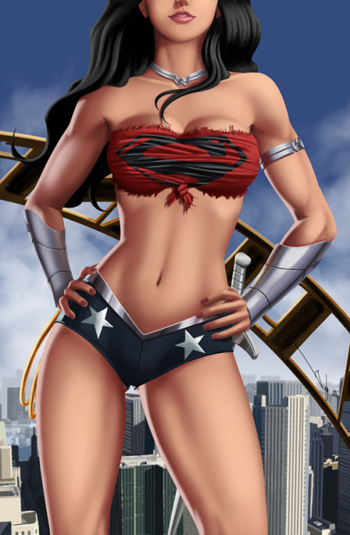dcplanet:  Wonder Woman  Art by iurypadilha Check DC Fan Arts #15  I thought that cape was indestructible…