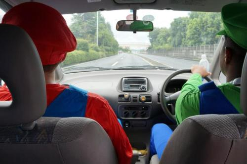My friends and I went go-karting in Tokyo… in Mario Bros costumes. Real life Mario Kart. (Album)
