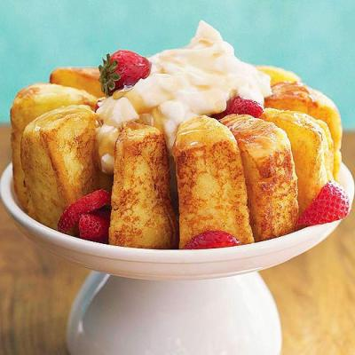 French-Toasted Angel Food Cake. Game changer.