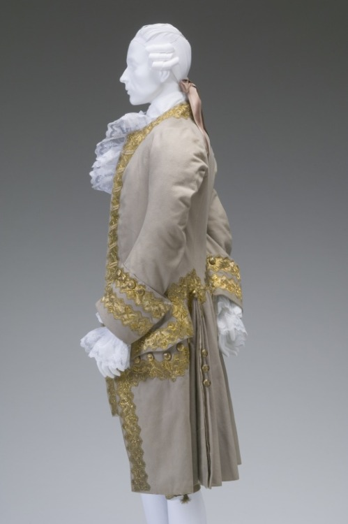 Court suit, 1770 France, The Mint Museum (Randolph Rd) Worn to the wedding of King Louis XVI and Marie-Antoinette.  I've seen this suit a number of times in person, but I never knew this.