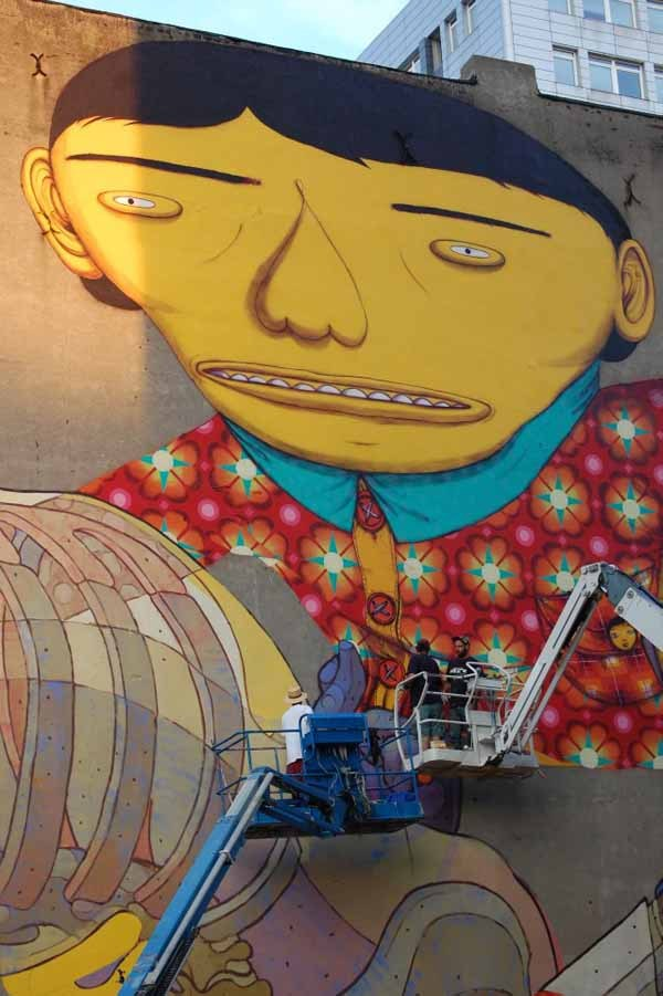 smooth:  OS GEMEOS AND ARYZ MURAL PROGRESS IN POLAND