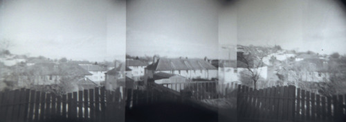 Old panorama taken on my Holga. Shot on Ilford HP5.