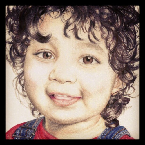 My drawing @ashraf272 @motaam0d #drawing #art  #color #pencil #kid #Abdullah #portrait (Taken with Instagram)