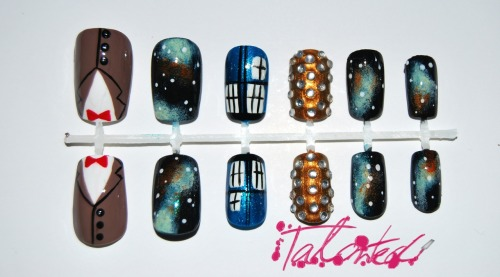 Doctor Who nails… I believe this is relevant to the internet's interests? Also, I reached over 50,000 views on my blog. Thank you so much!! Ahhh madness on stilts. Lex :)
