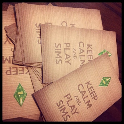 rosiewosie:  KEEPCALM&PLAYSIMS The business cards I designed some time ago for SNW. Gave away a few at Gamescom. :D  Cool business cards are cool.