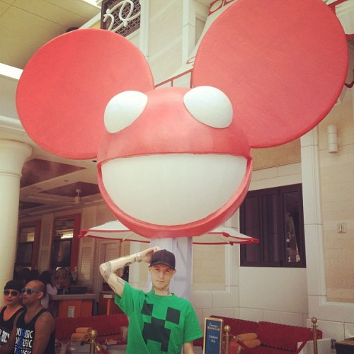 deadmau5:  Damn, I guess my head is getting bigger… Odd :/ #ebc (Taken with Instagram)