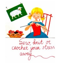 lawhimsy:  Sew, Knit or Crochet Your Stress Away!
