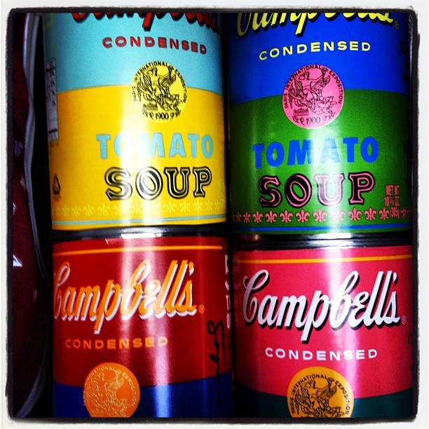 Campbell's Tomato Soup by Andy Warhol #50yearanniversary #popart #artcollection  (Taken with Instagram)