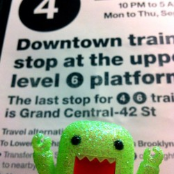 Domo is not pleased. #domo #mta #subway #nyc #funny #toy #toystagram #toyphotography #cute #photooftheday #igdaily  (Taken with Instagram)