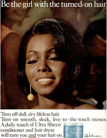 Judy Pace in a 1967 advertisement for Ultra Sheen.