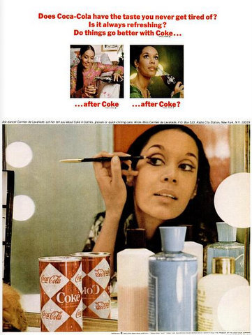 Carmen de Lavallade in a 1967 advertisement for Coca Cola.