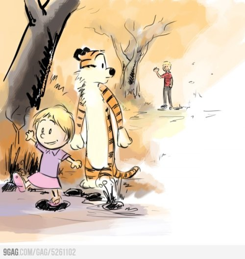When Calvin Grows Up …   I was never a big Calvin and Hobbes fan, but this makes me teary T_T