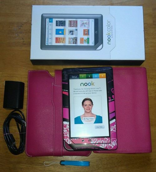 Not sure if any of you might be interested, but I'm trying to sell my Nook Color (bought for $150). I'm including an anti-glare screen protector ($20), a custom colored decalgirl skin (think I paid around $25), 2 pink leather cases (1 from b&n that I paid $35 for, and then 1 from M-Edge I paid $40 for), a leather charm ($10), the original box, and of course, the charger.   I'm only asking $120. It works perfectly, I just really need money for bills. If you're interested, please message with your email. I'm planning on selling through PayPal (in case you're worried about sending money, you can dispute the charge with them if you don't receive, which I would NEVER do, but it's nice to be reassured).