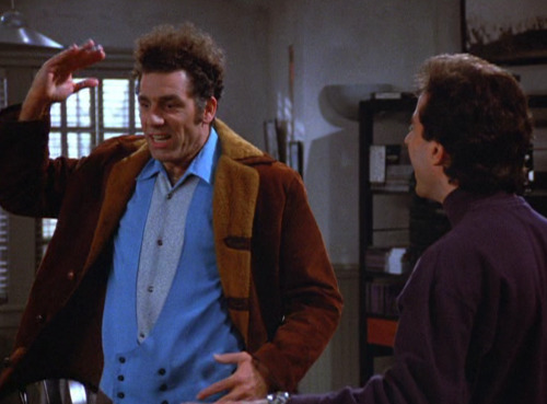 "dailyseinfeld:  KRAMER: Well, I was on my way to the Y, and I saw her coming towards me? I didn't know what to do! Because I remembered you had three dates with her and she wouldn't kiss you goodnight. So now I'm thinking, what is my duty to my friend? Do I acknowledge her? Do I ignore her? I mean, what is my responsibility here?JERRY: So what happened?KRAMER: Yeah, yeah, so she sees me and she goes, <imitates Gail> ""Oh, hi! Kramer!"" You know? Like nothing happened! Like she never went three dates with you and refused to kiss you goodnight.JERRY: Yeah, I know about the three dates.KRAMER: You know what I did? I snubbed her. JERRY: What do you mean, you snubbed her?KRAMER: I walked right by her - bffffft - never said a word.JERRY (smiling): Right by her?KRAMER: Right by her! (via The Shoes)"