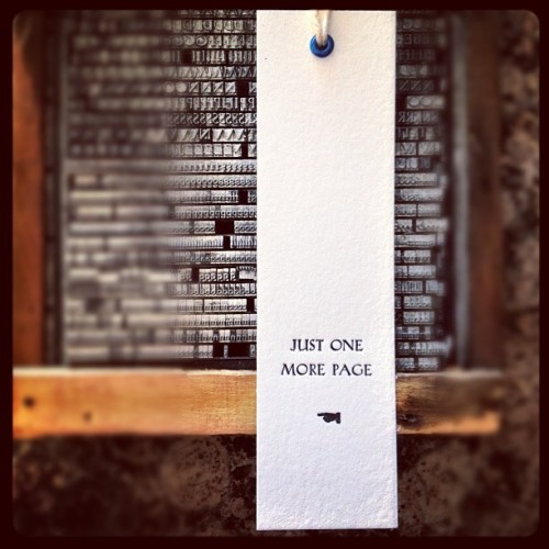 sheasmith:  #letterpress bookmark (Taken with Instagram)