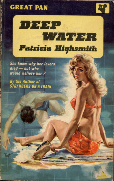 1961; Deep Water by Patricia Highsmith - Coverart by Sam Peffer (peff) -Original (1318 x 2084)