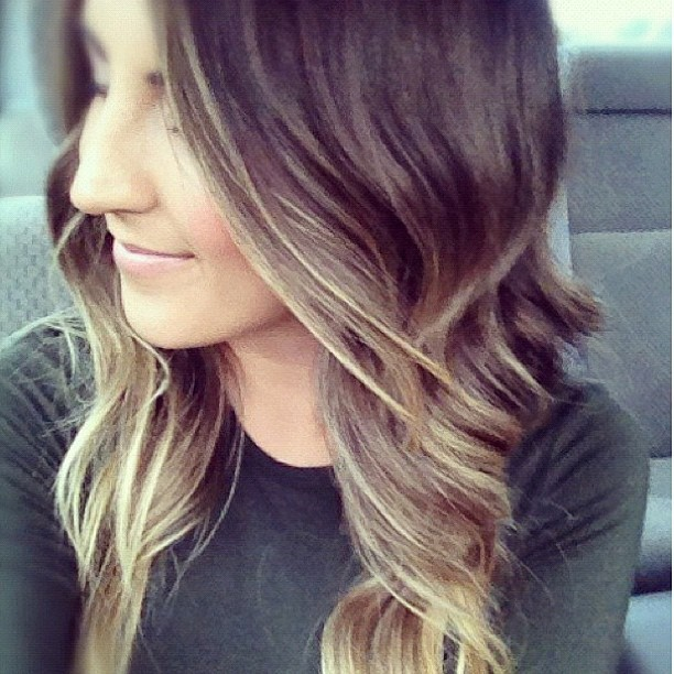 This ombré came out beautiful! 😲 #hair #pretty #blonde #brunette #luxy #ombré #curly #chic #cute #fall #fashion #style  (Taken with Instagram)