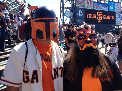 #SFGiants fans take #StarWarsDay seriously!