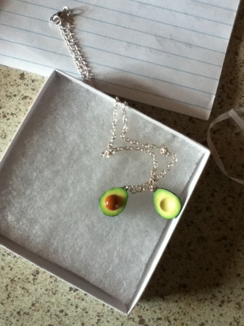 Billiam is the best! Hand made cado necklace…and cookie! <3