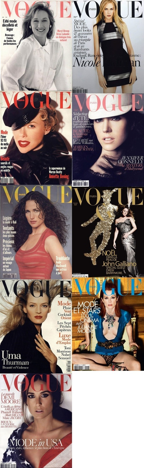 American screen stars on the cover of French Vogue- who shines?