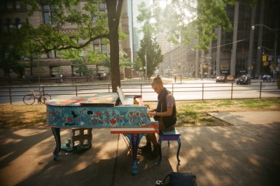 here's to… beautiful art projects, painted pianos around the city, and getting over your fear of talking to strangers you want to photograph (toronto) http://www.streetpianos.com/