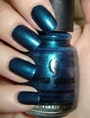 "China Glaze ""Rodeo Fanatic"" — a deep blue-green shimmer (via viennettka: China Glaze Rodeo Fanatic)"